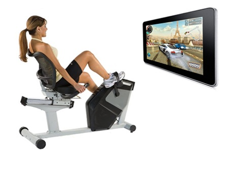 Exercising on an interactive bike