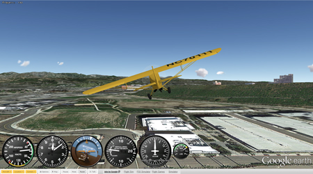 GE Flight Simulator  - Game for Cyber ExerCycle